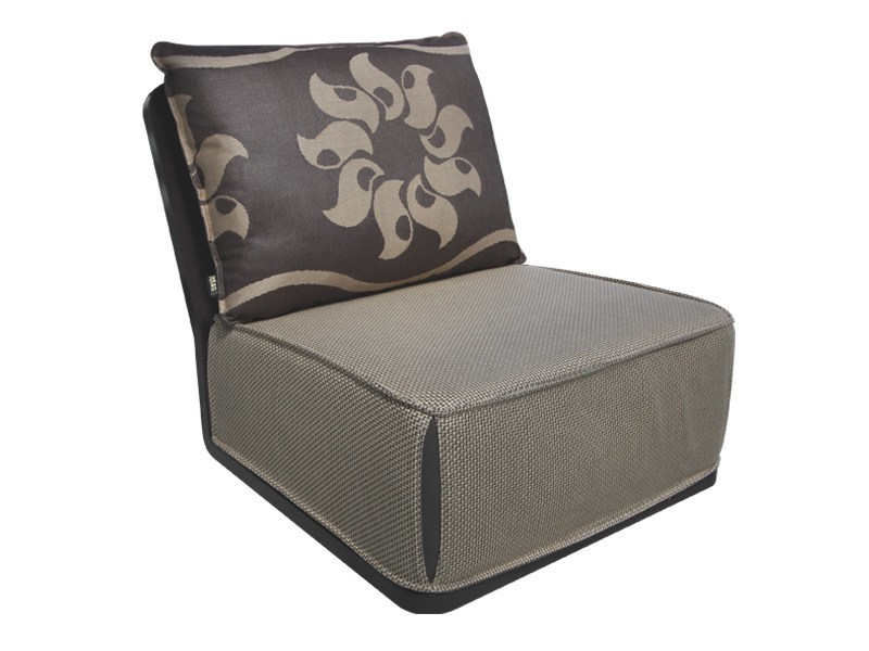 Upholstered armchair with removable cover OLYMPIA | Armchair - Sérénité Luxury Monaco