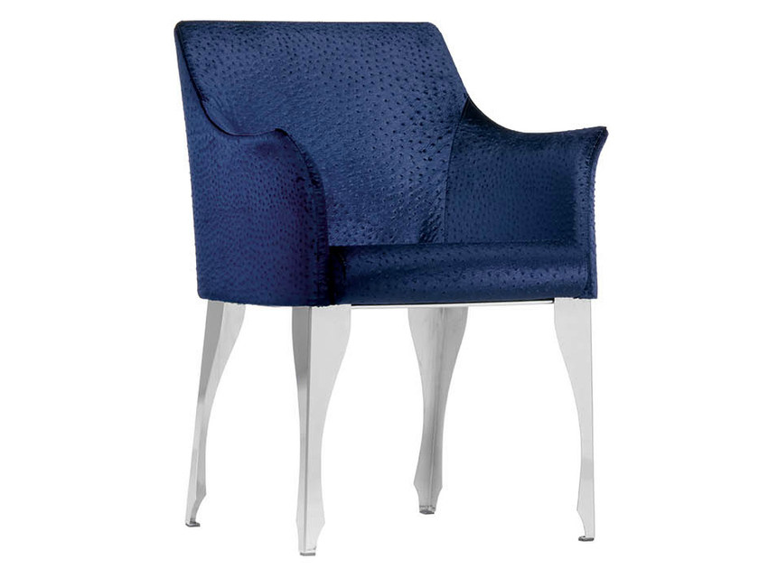 Upholstered chair with armrests MADAME - Midj