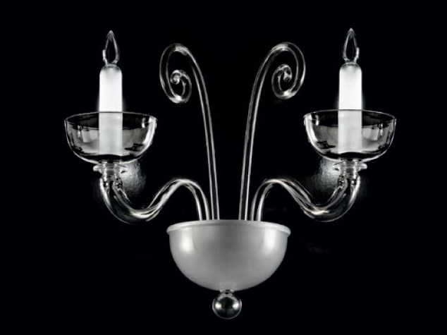 Murano glass wall lamp BRERA | Wall lamp - PANZERI