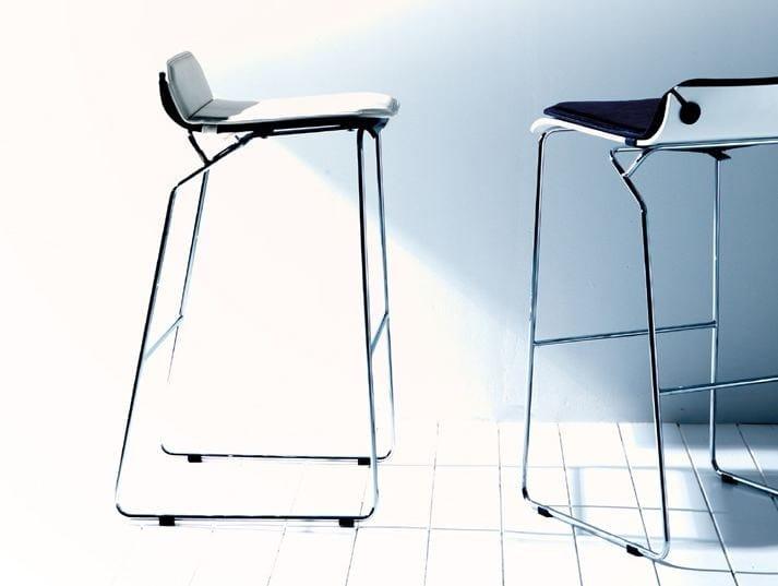 Sled base high stool JENNYB | Stool - Esedra by Prospettive