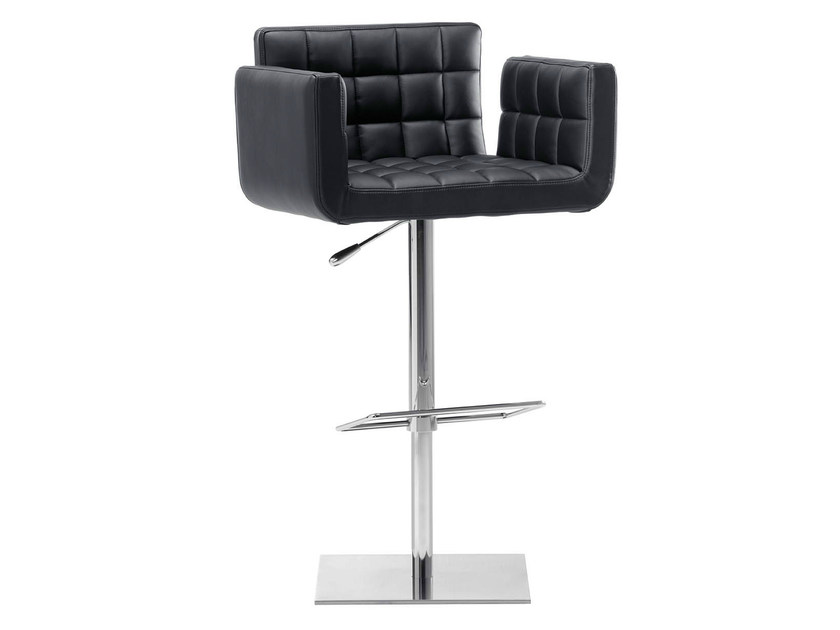 Height-adjustable swivel stool with armrests MARSIGLIA | Swivel stool - Midj