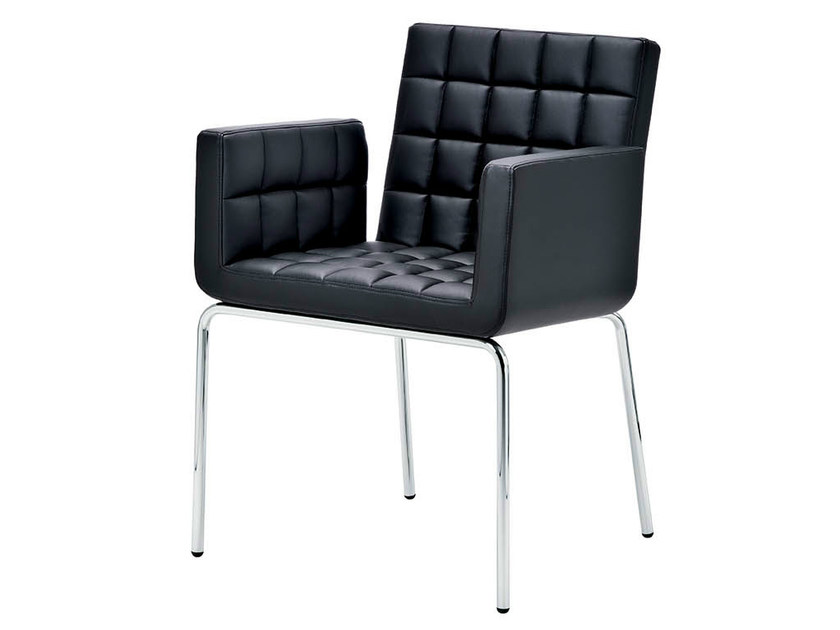 Upholstered chair with armrests MARSIGLIA | Chair with armrests - Midj