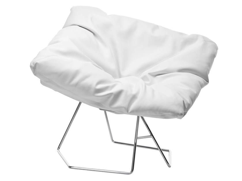 Leather armchair MASK - Midj