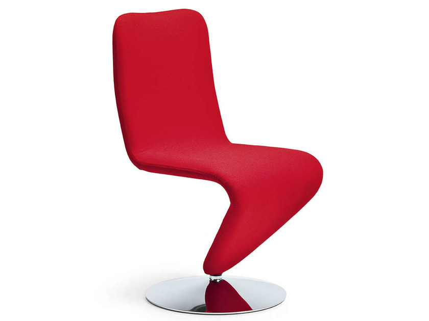 Swivel upholstered chair F12 by Midj