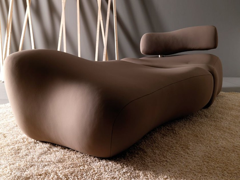 Upholstered fabric day bed MORFO | Day bed - Esedra by Prospettive