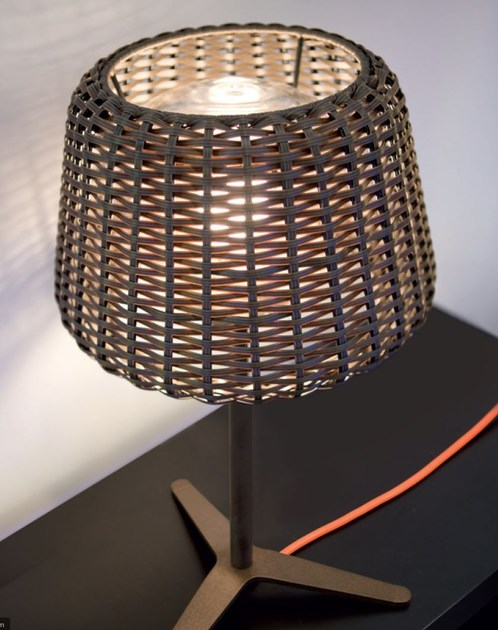Rattan table lamp RALPH   Table lamp by PANZERI