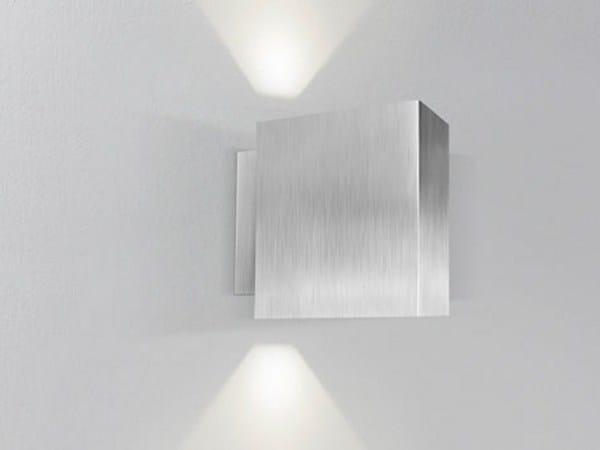 Direct-indirect light aluminium wall lamp SIRIUS by PANZERI