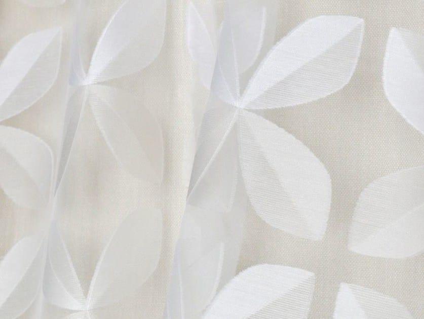 Devore Trevira® CS fabric with floral pattern JOKER - LELIEVRE
