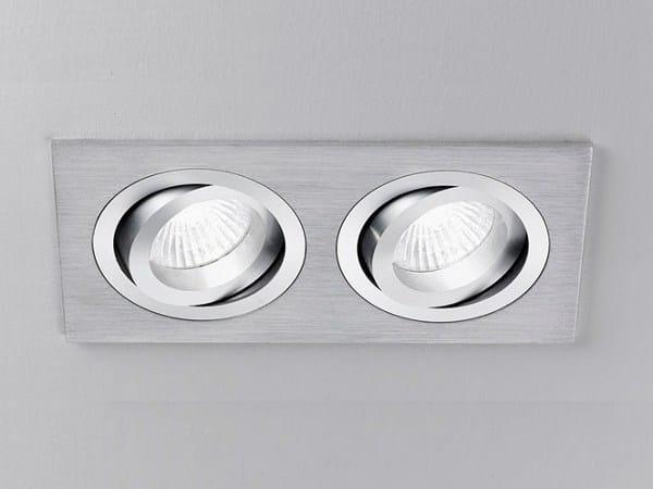 Adjustable ceiling recessed aluminium spotlight XA2102 | Spotlight - PANZERI