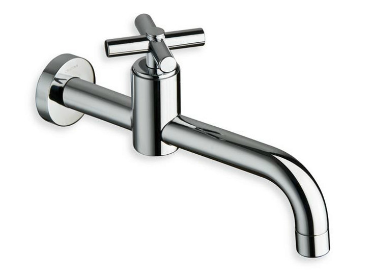 Wall-mounted chrome-plated single handle washbasin mixer EXCLUSIVE | Washbasin mixer - CRISTINA Rubinetterie