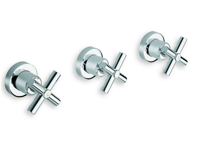 3 hole wall-mounted chrome-plated bathtub tap EXCLUSIVE | 3 hole bathtub tap - CRISTINA Rubinetterie