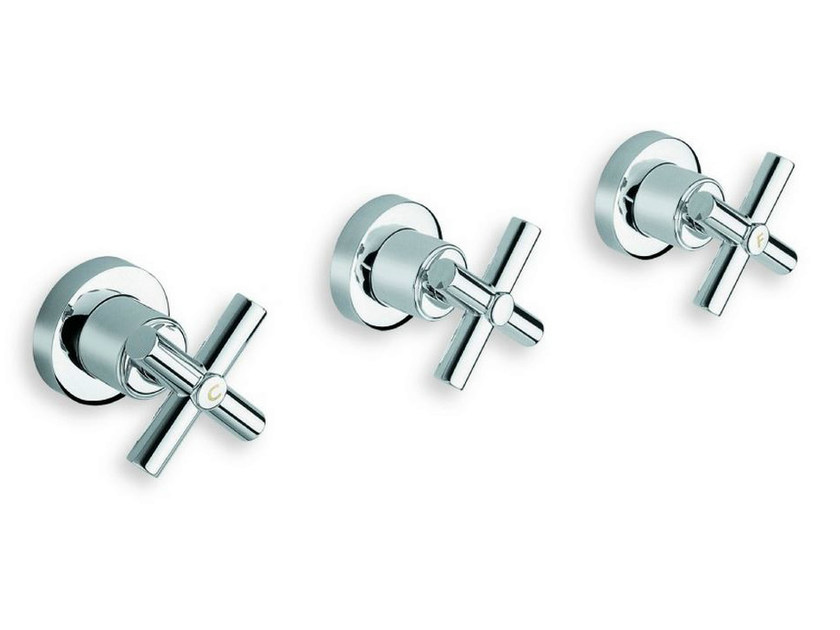 3 hole wall-mounted chrome-plated bathtub tap EXCLUSIVE | Bathtub tap - CRISTINA Rubinetterie