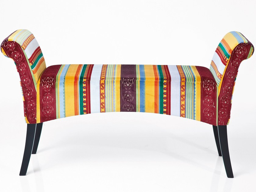 Design lacquered upholstered bench MOTLEY VERY BRITISH | Design bench - KARE-DESIGN