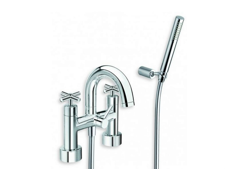 Chrome-plated bathtub tap with hand shower EXCLUSIVE | Bathtub tap with hand shower by CRISTINA