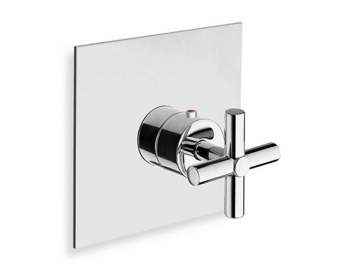 Chrome-plated single handle thermostatic shower mixer EXCLUSIVE | Thermostatic shower mixer - CRISTINA Rubinetterie