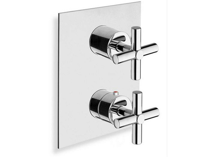 Chrome-plated thermostatic shower mixer EXCLUSIVE | Single handle thermostatic shower mixer - CRISTINA Rubinetterie