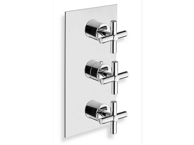 Chrome-plated thermostatic shower mixer EXCLUSIVE | Chrome-plated thermostatic shower mixer - CRISTINA Rubinetterie