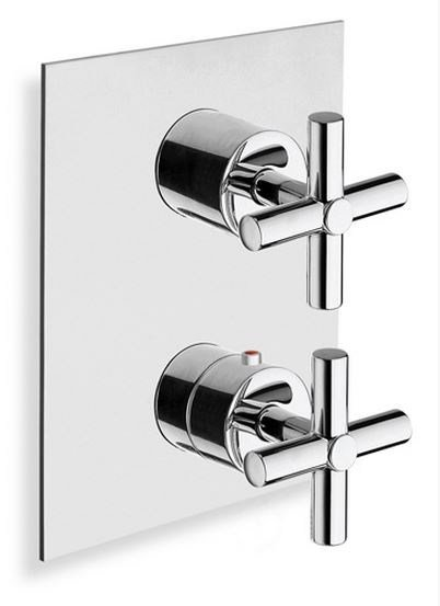 Chrome-plated thermostatic shower mixer EXCLUSIVE | Thermostatic shower mixer - CRISTINA Rubinetterie