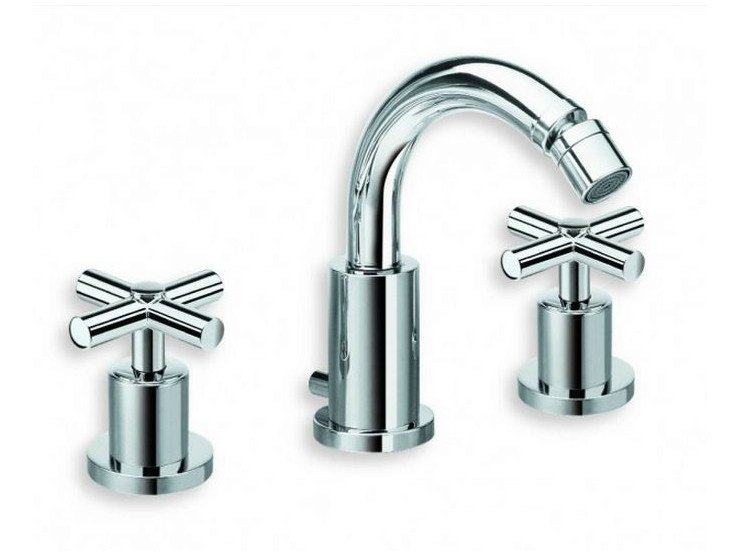 3 hole chrome-plated bidet tap EXCLUSIVE | 3 hole bidet tap - CRISTINA Rubinetterie