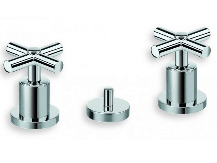 3 hole chrome-plated bidet tap EXCLUSIVE | Bidet tap - CRISTINA Rubinetterie