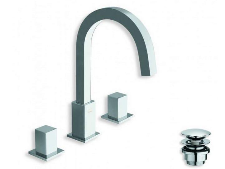 3 hole washbasin tap QUADRI | Washbasin tap by CRISTINA