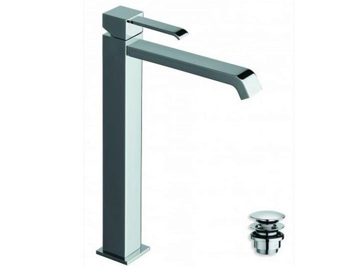 Chrome-plated countertop single handle washbasin mixer QUADRI | Chrome-plated washbasin mixer - CRISTINA Rubinetterie