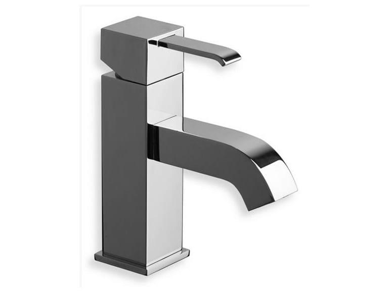 Chrome-plated countertop single handle washbasin mixer QUADRI | Single handle washbasin mixer - CRISTINA Rubinetterie