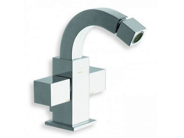Chrome-plated countertop 1 hole bidet tap QUADRI | Chrome-plated bidet tap - CRISTINA Rubinetterie