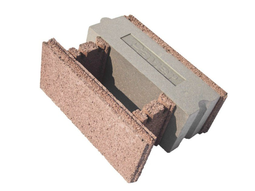 Sound insulating concrete block bioplus a by paver for Insulated concrete block
