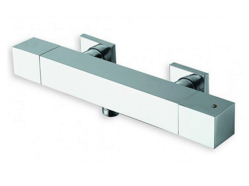 Chrome-plated thermostatic shower mixer QUADRI | Thermostatic shower mixer - CRISTINA Rubinetterie