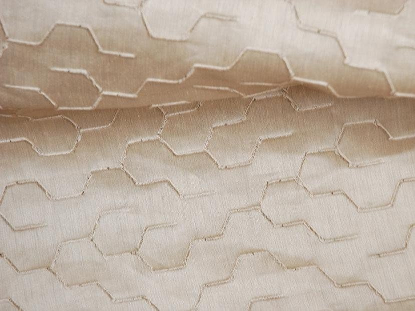 Iridescent embroidered fabric ROOT - LELIEVRE