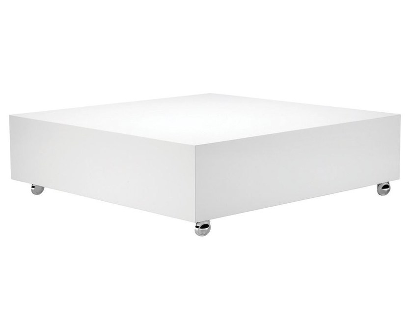Low square coffee table with casters PANTON | Coffee table - Verpan
