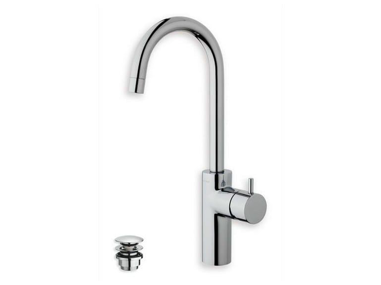 Single handle washbasin mixer TRICOLORE VERDE | Chrome-plated washbasin mixer - CRISTINA Rubinetterie