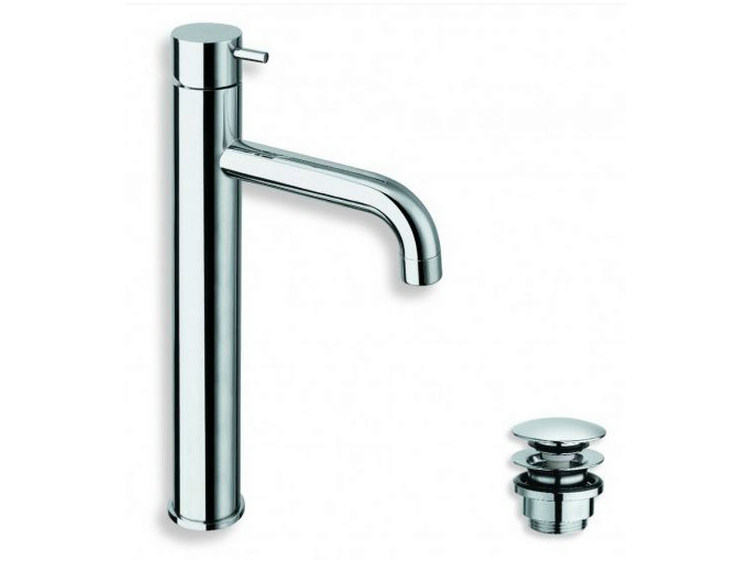 Chrome-plated countertop washbasin mixer TRICOLORE VERDE | Chrome-plated washbasin mixer - CRISTINA Rubinetterie