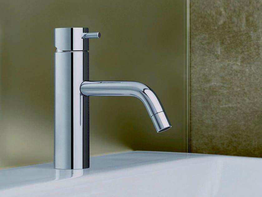 Chrome-plated countertop single handle washbasin mixer TRICOLORE VERDE | Washbasin mixer - CRISTINA Rubinetterie