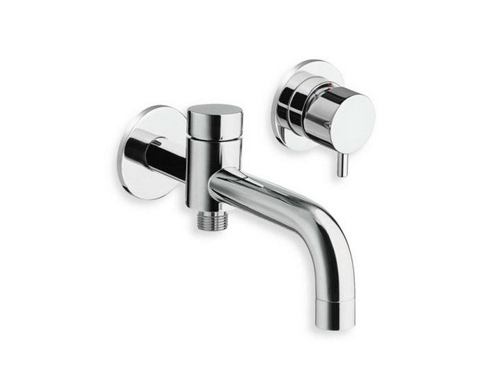 2 hole wall-mounted chrome-plated bathtub mixer TRICOLORE VERDE | 2 hole bathtub mixer - CRISTINA Rubinetterie