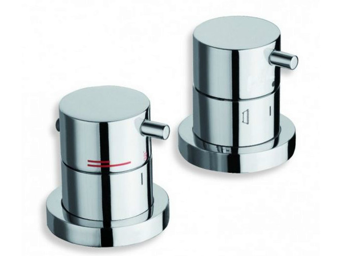 2 hole chrome-plated bathtub mixer with diverter TRICOLORE VERDE | 2 hole bathtub mixer by CRISTINA