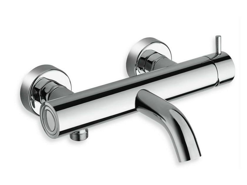 Wall-mounted chrome-plated single handle bathtub mixer TRICOLORE VERDE | Chrome-plated bathtub mixer - CRISTINA Rubinetterie