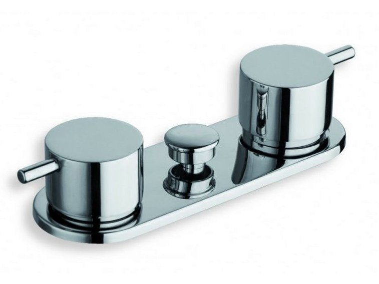 Chrome-plated bathtub tap with diverter TRICOLORE VERDE | Bathtub tap with diverter - CRISTINA Rubinetterie