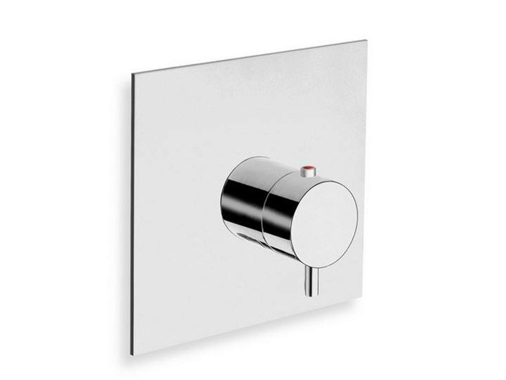 Chrome-plated single handle thermostatic shower mixer TRICOLORE VERDE | Thermostatic shower mixer - CRISTINA Rubinetterie