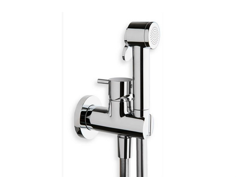 Wall-mounted bidet mixer with spray TRICOLORE VERDE | Bidet mixer with spray - CRISTINA Rubinetterie