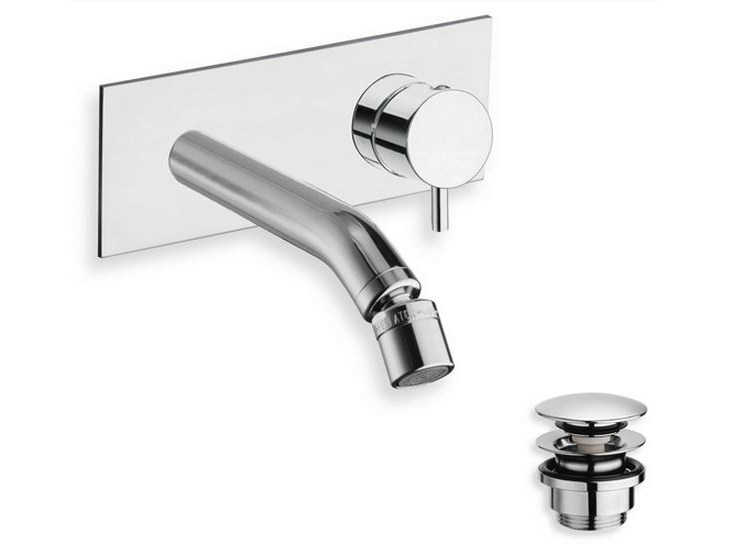 Wall-mounted chrome-plated bidet mixer TRICOLORE VERDE | Wall-mounted bidet mixer - CRISTINA Rubinetterie