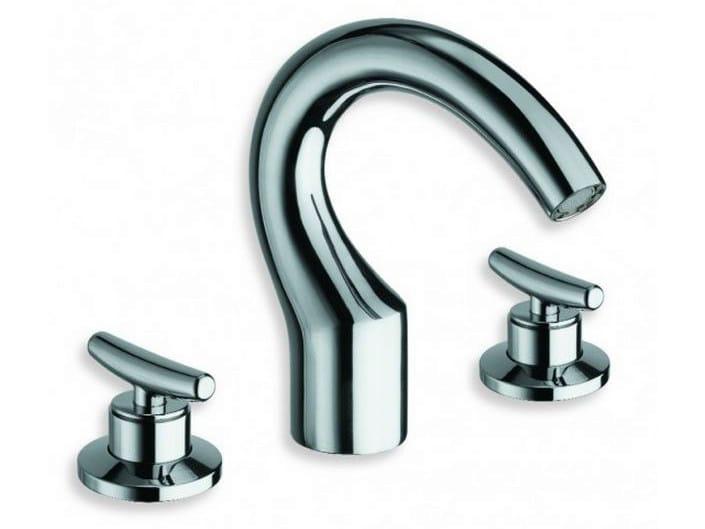 3 hole chrome-plated countertop washbasin tap SELTZ | Washbasin tap - CRISTINA Rubinetterie