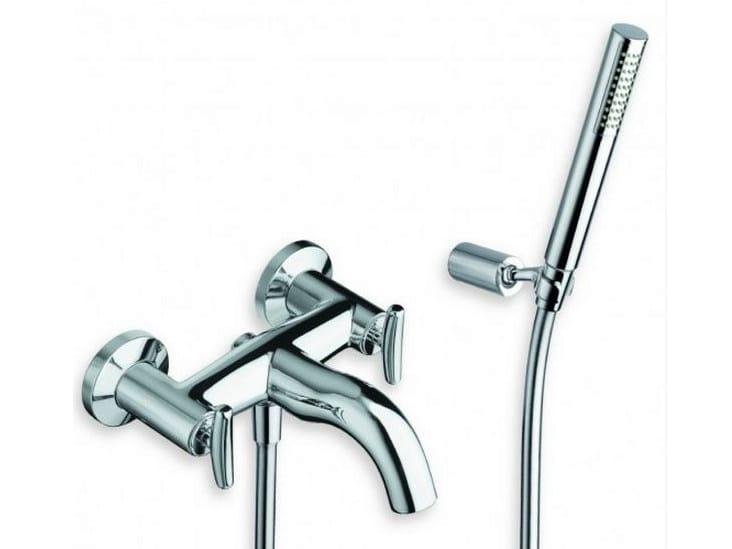 3 hole wall-mounted bathtub tap with hand shower SELTZ | 3 hole bathtub tap - CRISTINA Rubinetterie