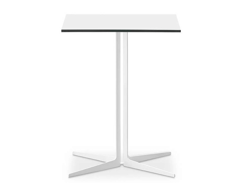 Square table with 4-star base SINTESY by Midj