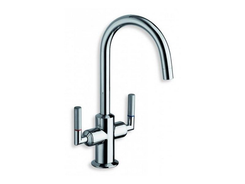 Chrome-plated 1 hole washbasin tap PICCHE ELITE | 1 hole washbasin tap - CRISTINA Rubinetterie