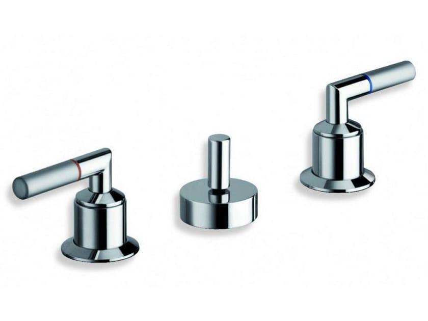 3 hole chrome-plated countertop bidet tap PICCHE ELITE | Bidet tap - CRISTINA Rubinetterie