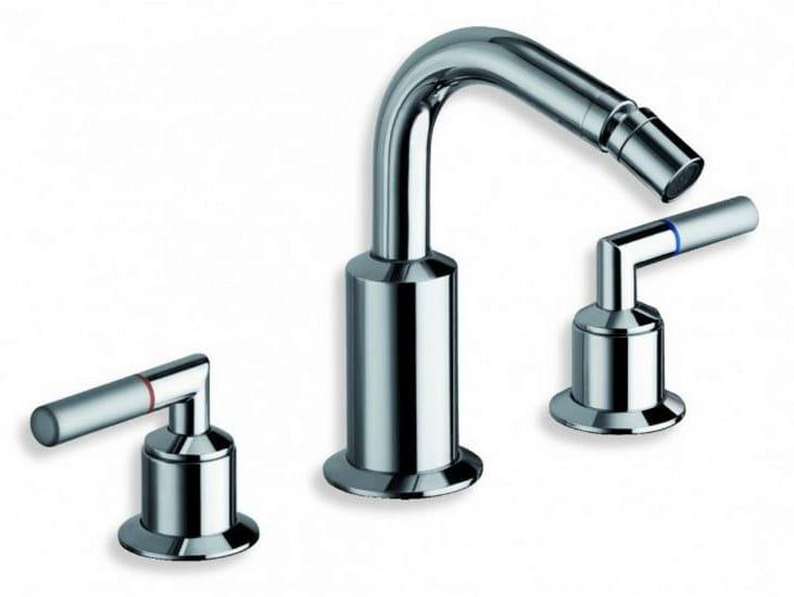 3 hole chrome-plated countertop bidet tap PICCHE ELITE | 3 hole bidet tap - CRISTINA Rubinetterie