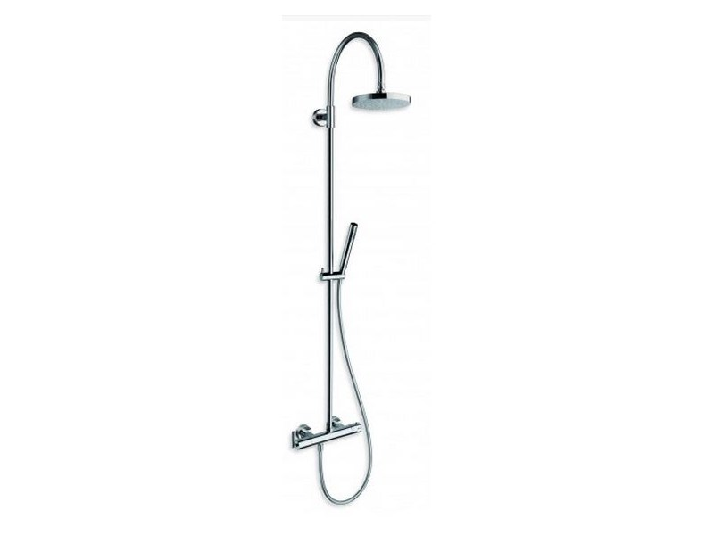 Wall-mounted shower panel with hand shower with overhead shower PICCHE ELITE | Shower panel - CRISTINA Rubinetterie