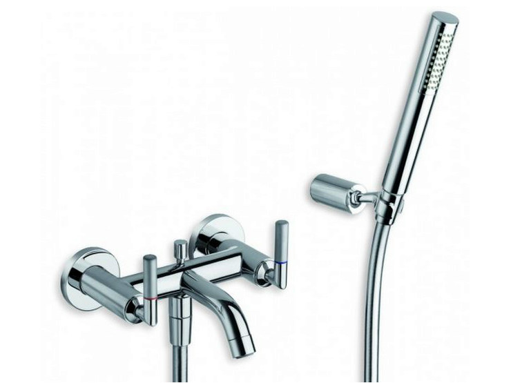3 hole wall-mounted bathtub tap with hand shower PICCHE ELITE | 3 hole bathtub tap - CRISTINA Rubinetterie